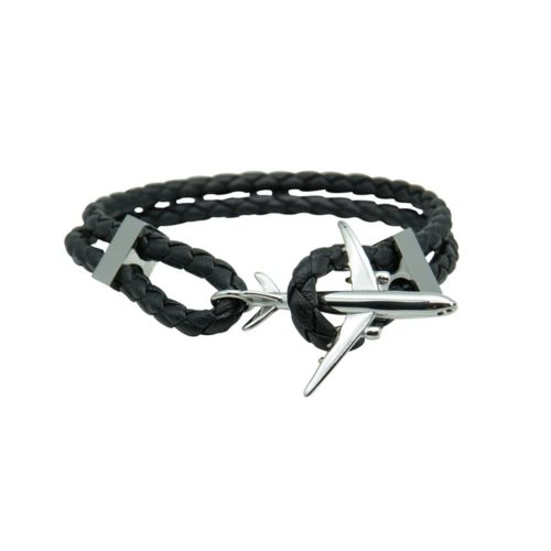 #GO-AROUND PULSERA DE CUERO PLATA